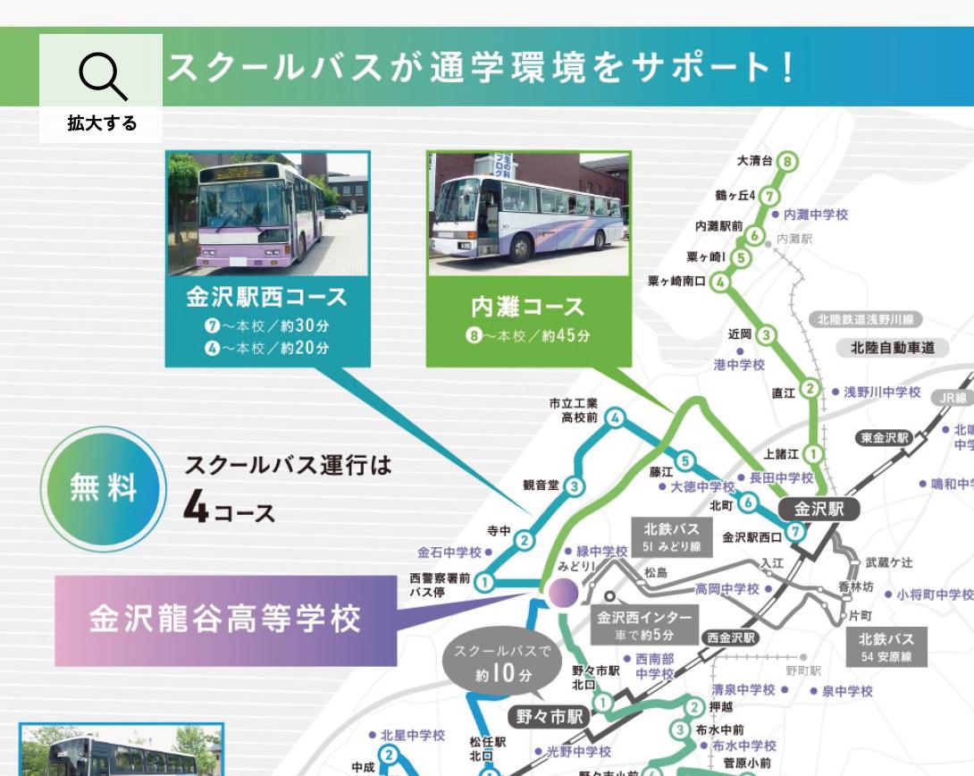 スクールバス 交通アクセス